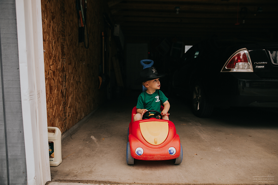 """58/365 He loves to cruise the block in """"red car""""."""