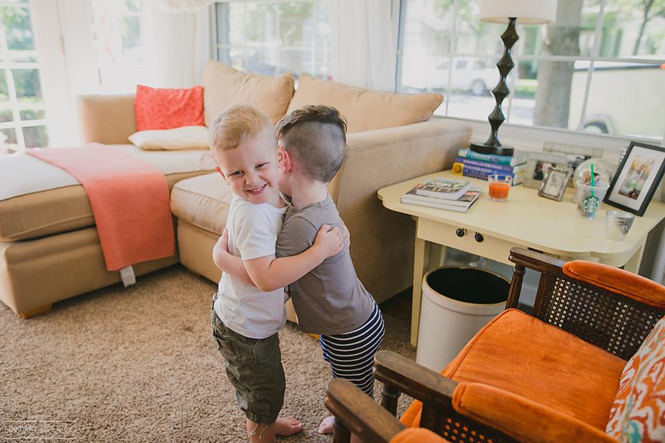 95/365 Rocco and Teddy Bear love hugs.