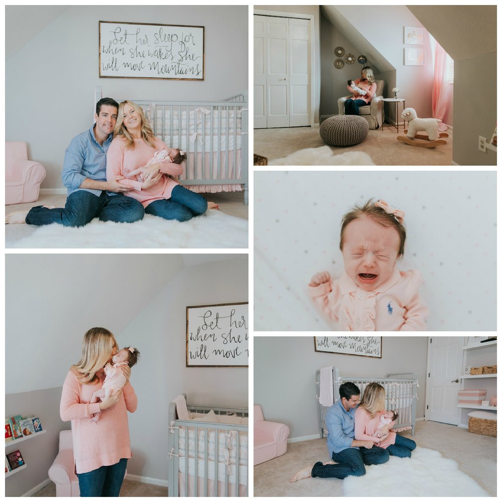 pink gray white and gold nursery ideas