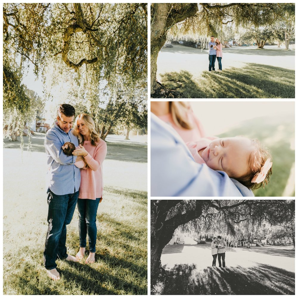 outdoor newborn family pictures ideas