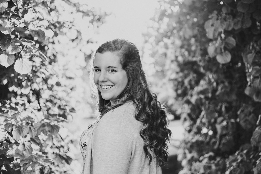 Senior Pictures, Mishawaka Riverwalk, Black and White