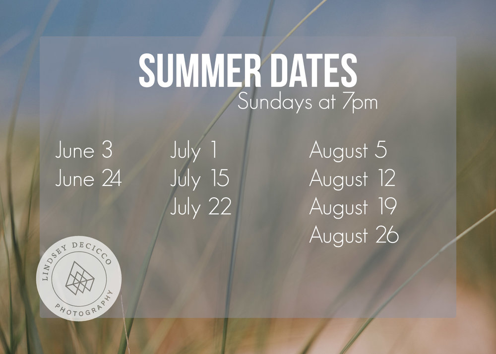 summer picture session dates