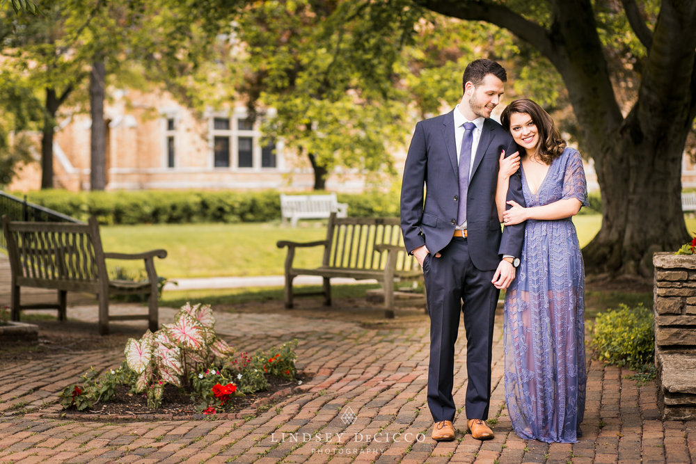 Engagement pictures at St. Mary's College, Notre Dame IN