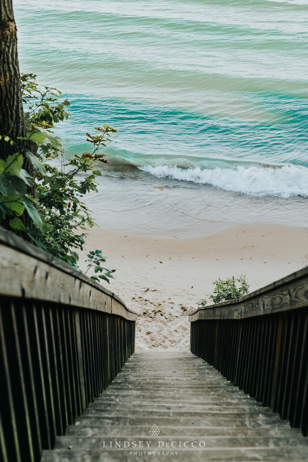 lake michigan stairs