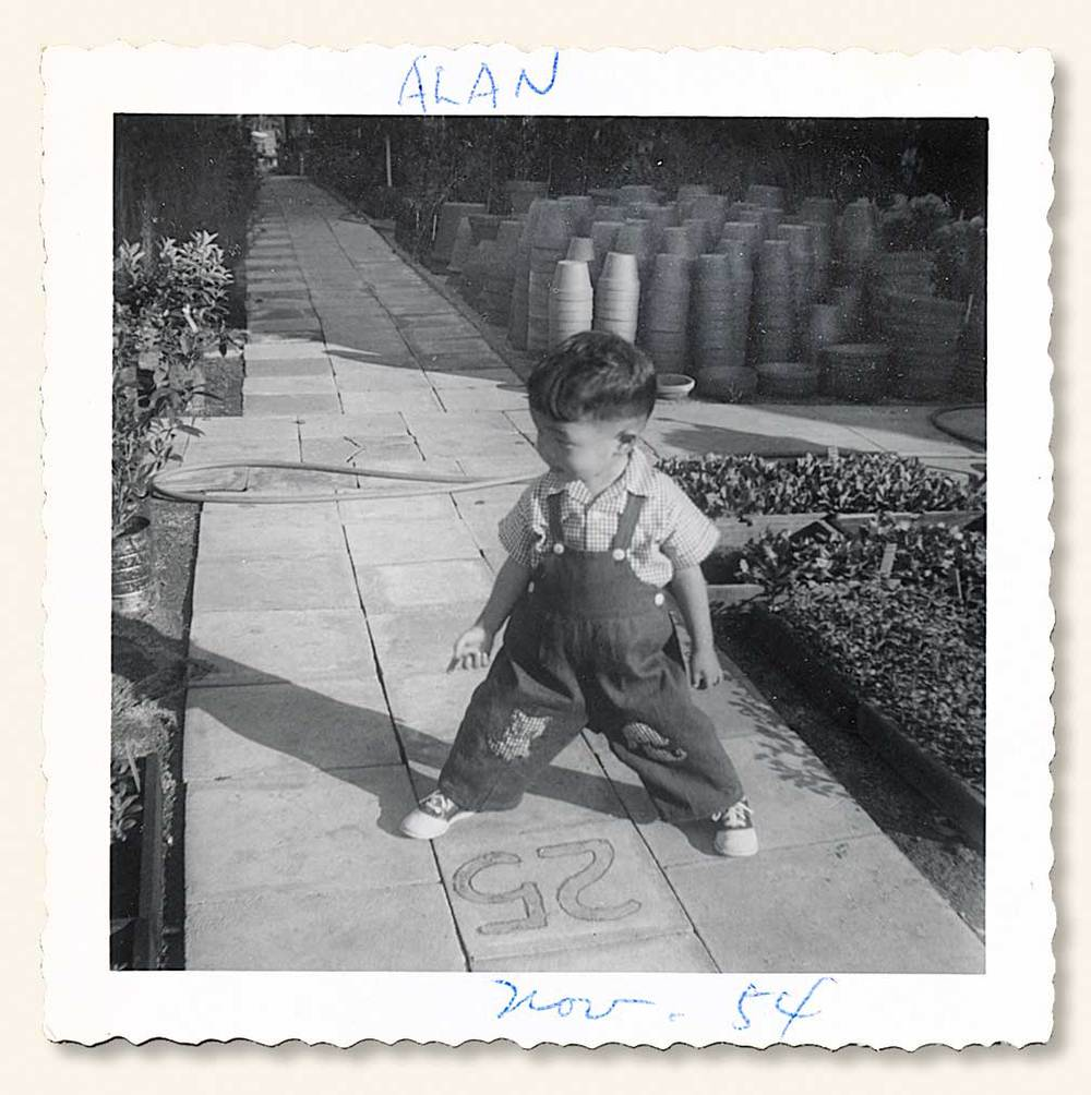 Alan, 1954. (Thinking this could be the start of something grand!) (Click to enlarge.)