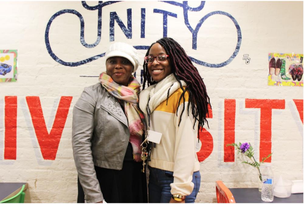 Kierra with GWCC Founder & Executive Director Kisha Webster