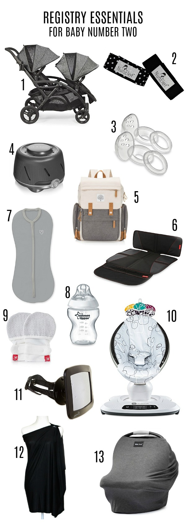 Baby registry essentials for baby number two