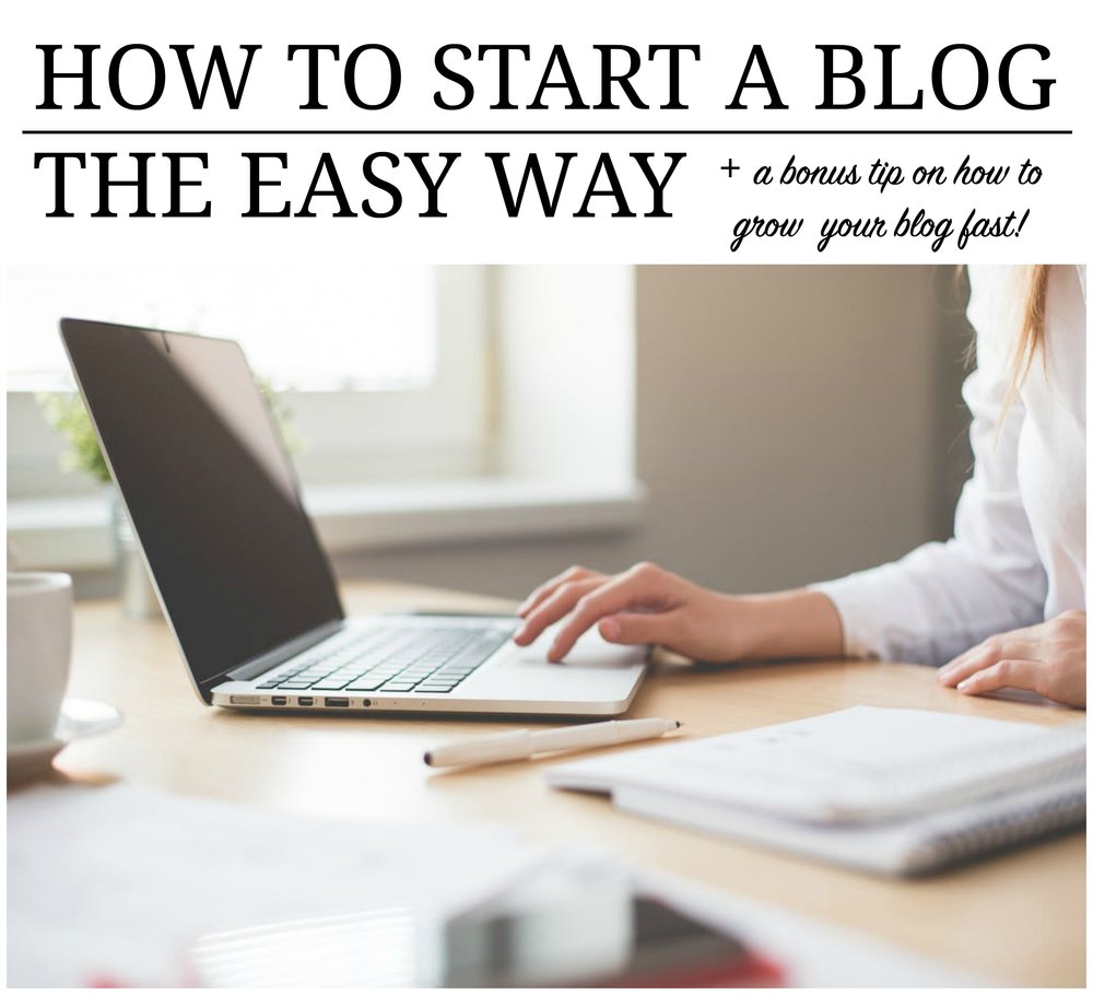 How to start a blog the easy way!
