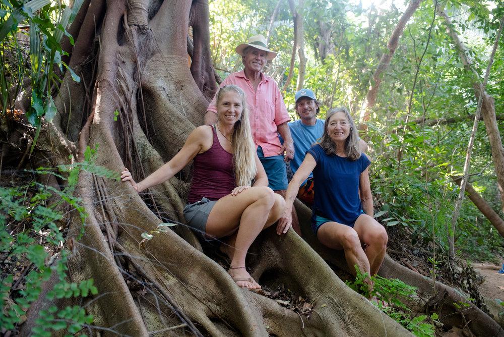 From right to left: Jungle Judi, Walter Wright (Tarzan), El Tigre & The Jungle Girl (me!)