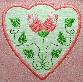 Rose applique medium