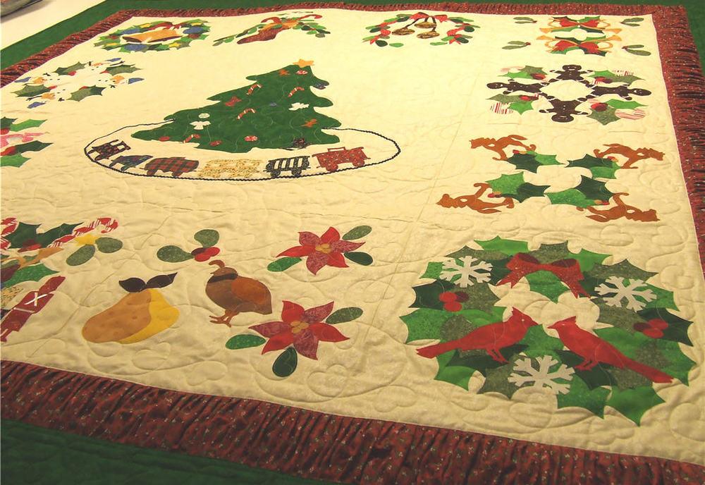 Christmas applique quilt u candy apple quilts