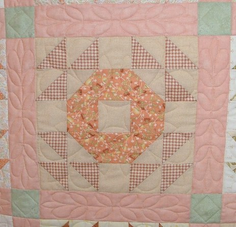 Barb's quilt with each block done individually