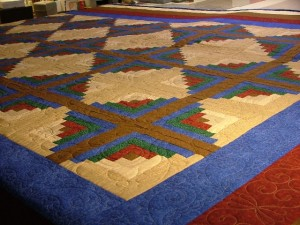 Linda's Log Cabin Quilt