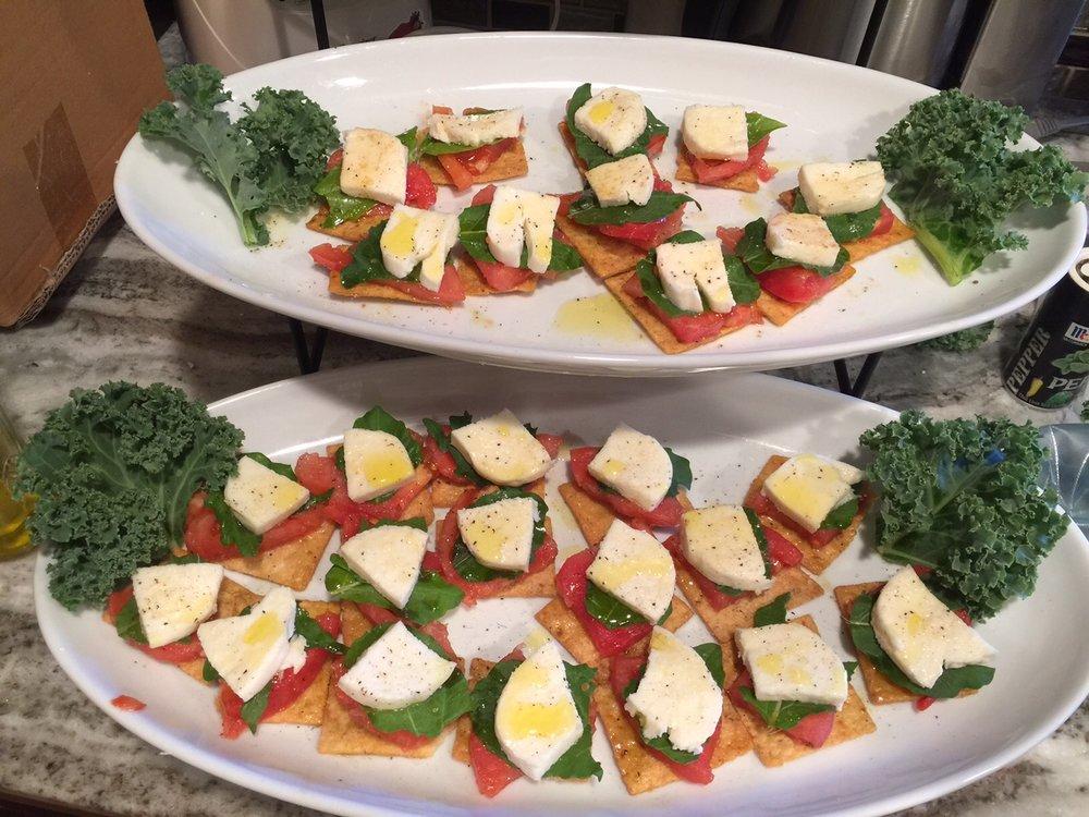 Tomato Basil Mozzarella appetizer