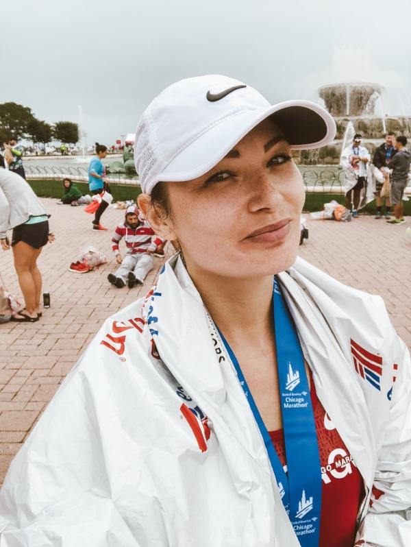Proud Marathon Finisher face.