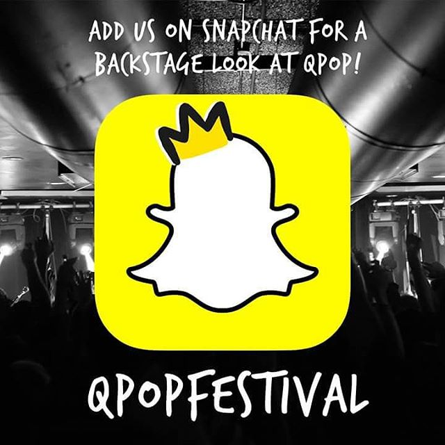 Want to get some cool snaps of backstage at QPop!? Add us on Snapchat for a look at the setup process and the bands!
