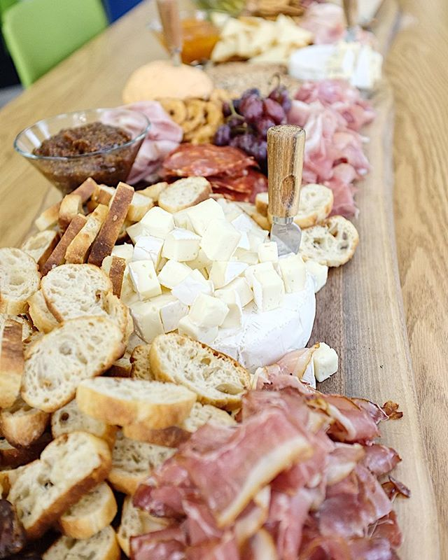 Sometimes the worst part of catering jobs is not being able to enjoy it yourself. Like the time we created a 10 foot live edge charcuterie board.