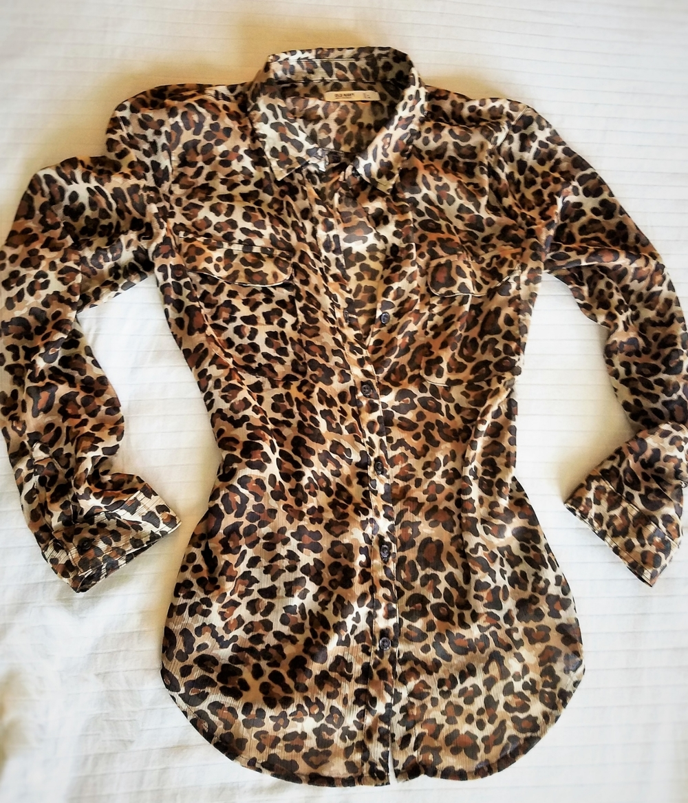 Old Navy Leopard Print Shirt (no longer available) similar  here