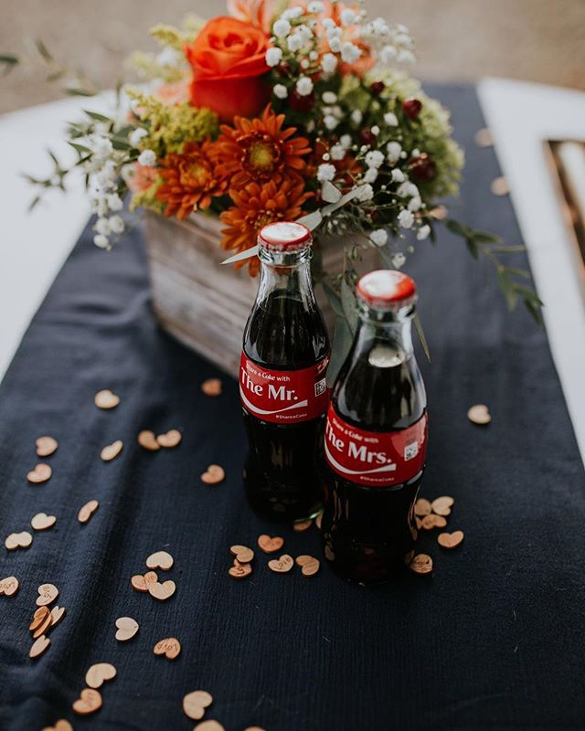 It's the little details that matter most. ⠀ ⠀ #shareacoke #mr #mrs #cookevillewedding #weddingfilms #chattanoogaweddingfilms