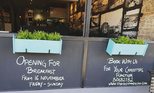 Opening for breakfast☕🥓🍳 #darleystreetbistroclovelly  #coffee #mochacoffeeaustralia #breakfast