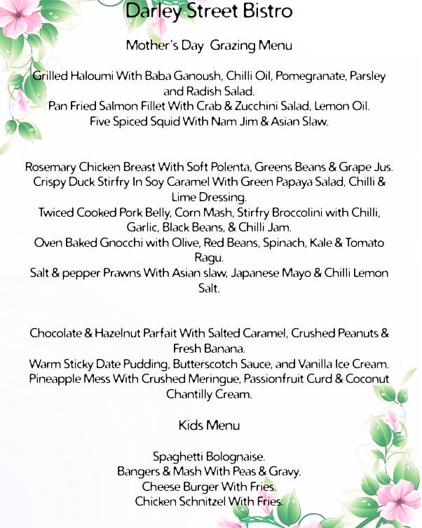 Fill your mothers heart with warmth,  and her belly with a delicious 11 course grazing menu this Mothers Day. We have a few spots left for both brunch and dinner. #mothersday #grazingmenu #realgoodfood #mother #fullbelly #happybelly