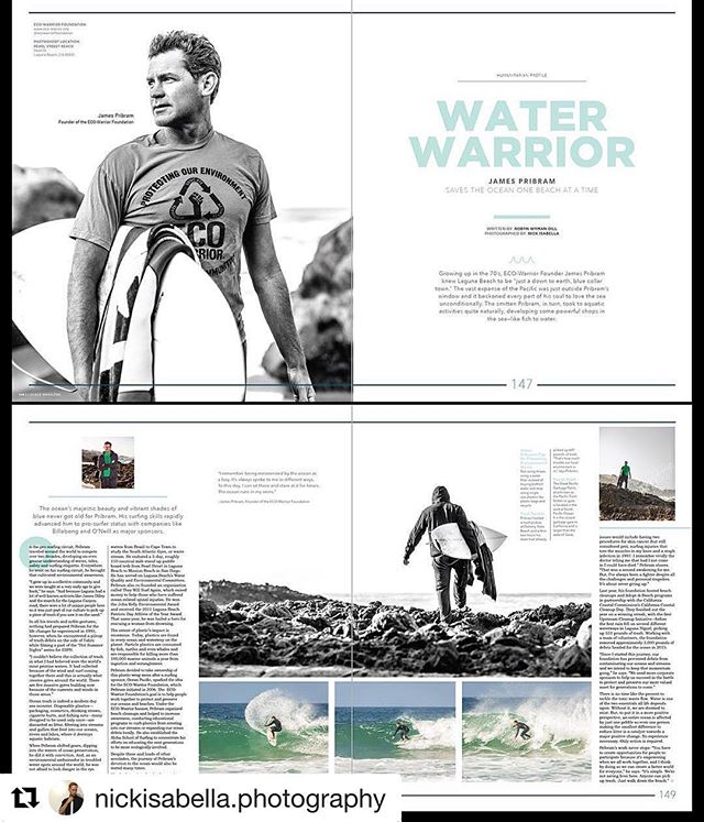 Checkout our founder and ECO-Warrior @jamespribram in the new issue of @localemagazine magazine which drops July 1st! @nickisabella.photography 🌊🏄🐬🐠🐋🙏🏻💙 #educate #motivate #activate #ecowarrior @thecaliforniacoast @oceanconservancy @ocparks  @ocwaterkeeper