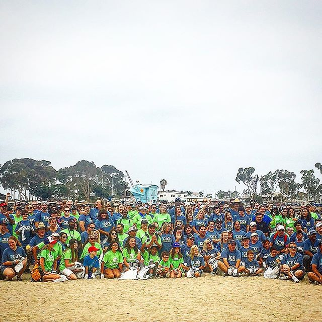 We're hosting the Third Annual @coxcommunications @coxenterprises @oceanconservancy We had some many people sign up this year. We couldn't fit them all in one picture! #educate #motivate #activate #doyourpart #ecowarrior