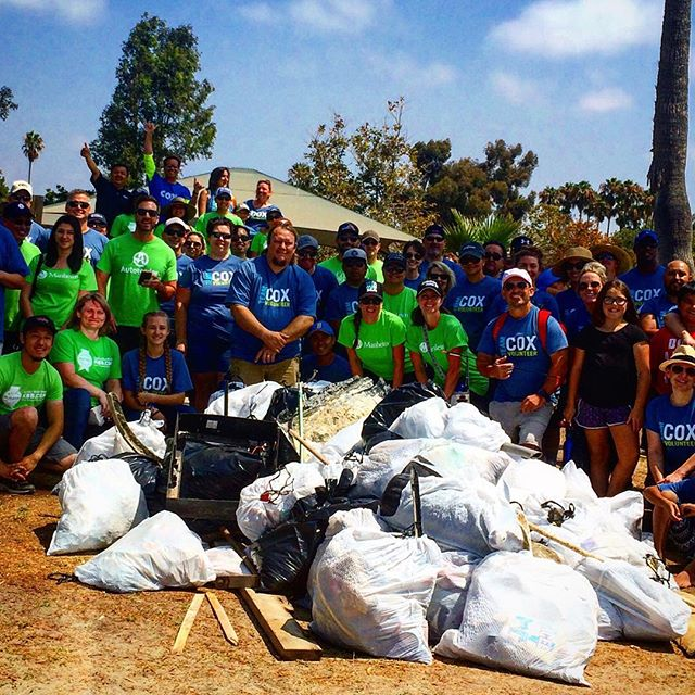 Always an honor for us to work with such great partners! @coxenterprises @coxcommunications @oceanconservancy Who truly care and give back to our communities, beaches and ocean on a daily basis. This is what happens when you activate your communities and in the process remove 936 pounds of litter off of the beach. Thank you all; for doing your part! #educate #motivate #inspire #activate #doyourpart #ecowarrior @rcj6666 @peter_mel @kellyslater @mick_fanning @ellenbergermma @darrylch @mark_munoz @lukerockhold @mattrockhold @rvcasurf 🌊🏄🐠🐋🐬🐳🐟💙🙏🏻