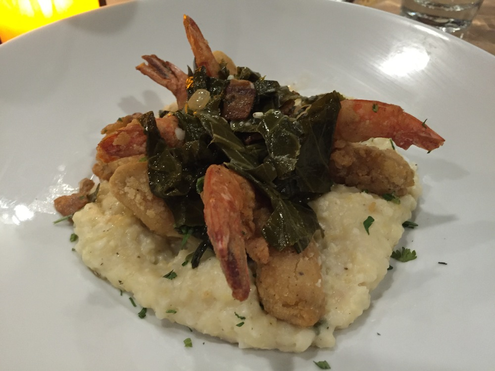 Southern Fried Shrimp & Grits