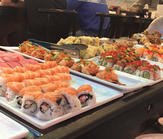 The infamous sushi lunch buffet//photo courtesy of  T   rip Advisor