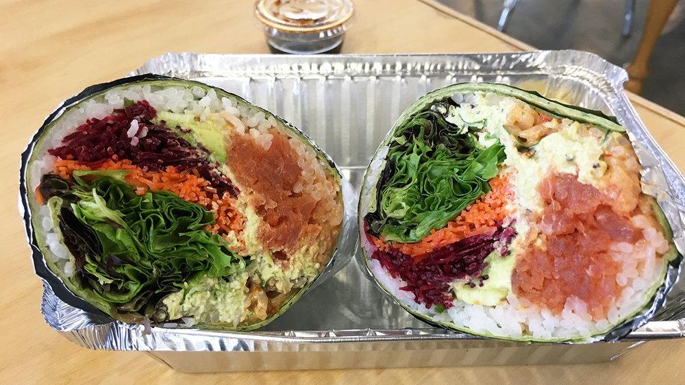 Sushi burrito!//Photo courtesy of  Charlotte Agenda