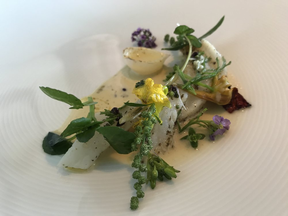Lemon Sole, Onion Herbs,