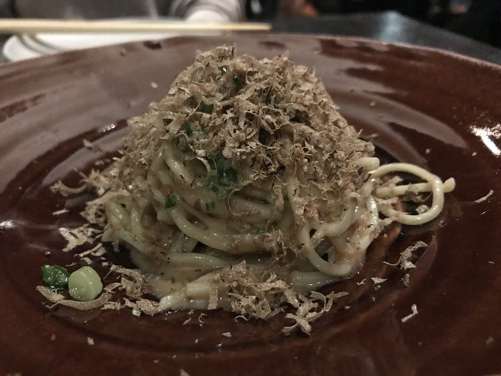 Sesame noodles with black truffles - With black truffles