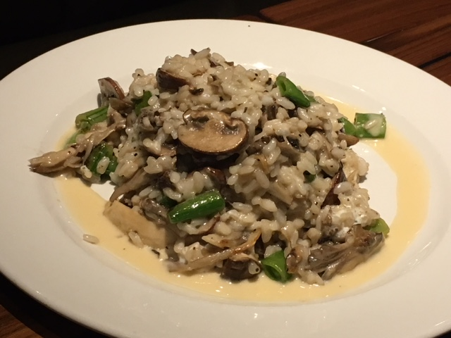 Wild Mushroom Risotto - snap peas, goat cheese, lemon zest