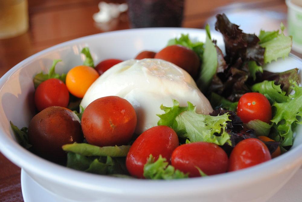 Caprese Salad - Fresh, ripe tomatoes, buffalo mozzarella, fresh basil, extra virgin olive oil
