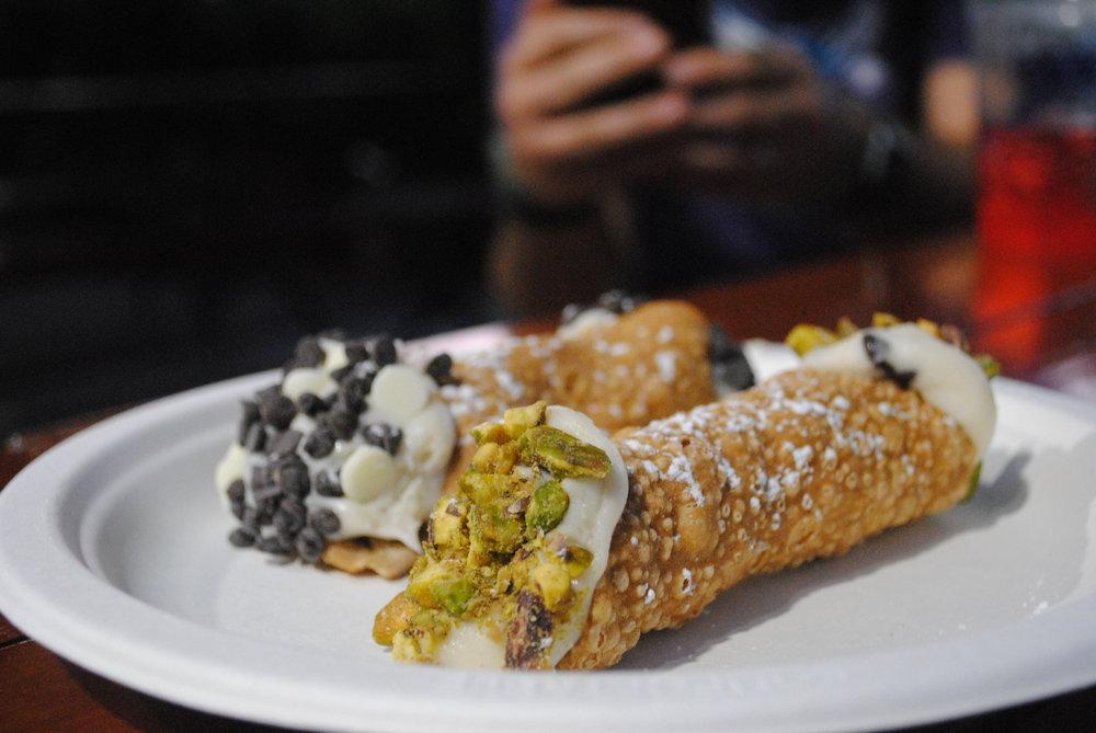 cannoli - Chocolate chip & pistachio