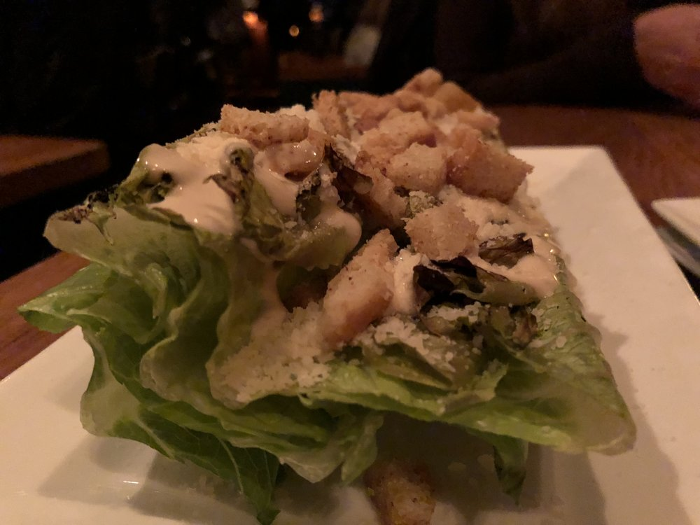 grilled caesar - Garlic-oil romaine, toasted sourdough crouton