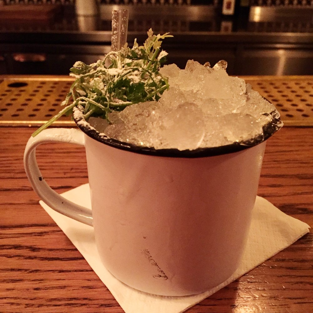 Best Cocktail - Lidkoeb, Copenhagen, DenmarkThis winter wonderland magic was from a bar in Copenhagen called Lidkoeb. I don't remember what the liquor was, what else was in it...just that it had this cute little powdered sugar dusted piece of a pine tree in it and it tasted like hygge and happiness. Signature wedding cocktail inspiration? Le duh.