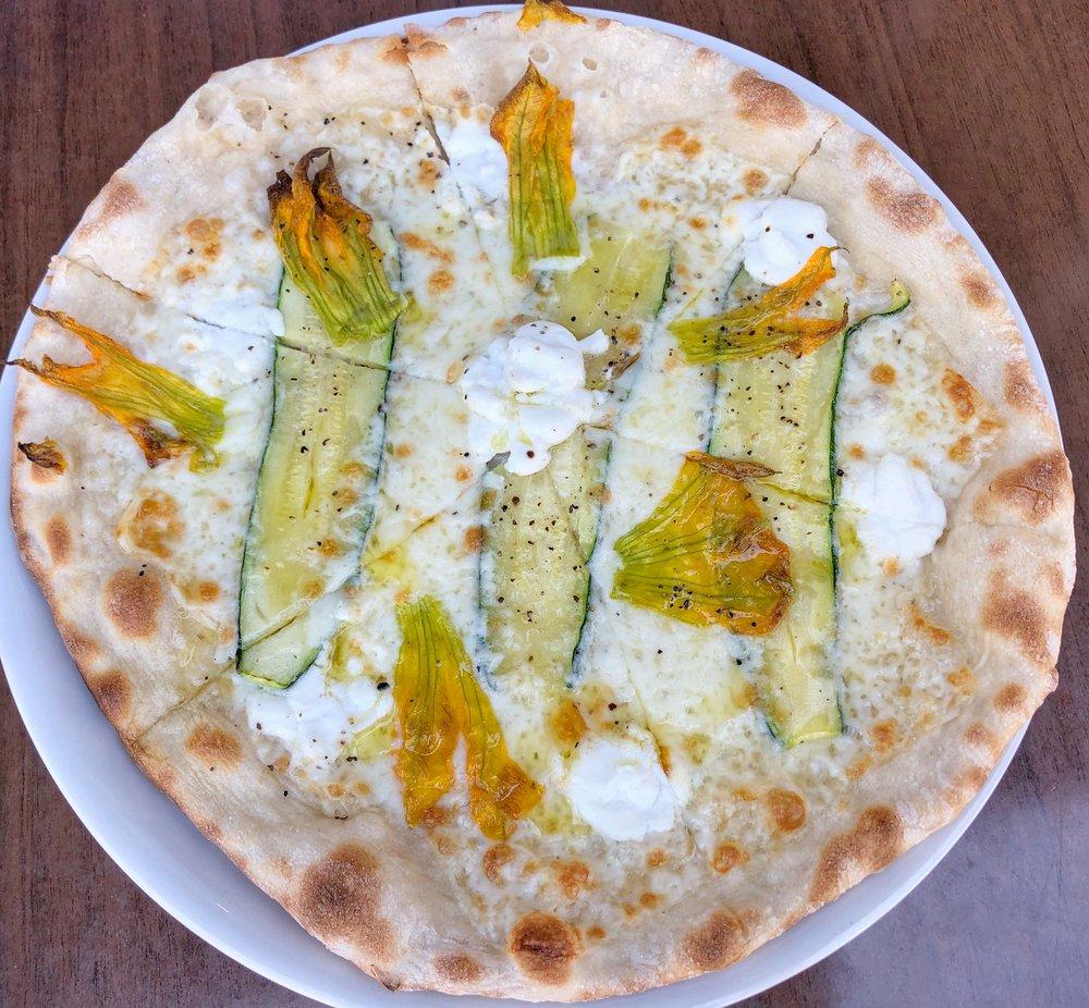 Fior di Zucca - whole milk mozzarella, ricotta, zucchini, zucchini flower, salt, pepper, EVOO