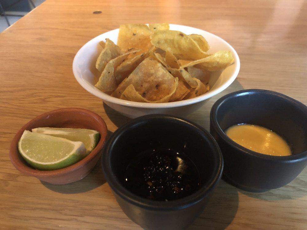 Chips & Salsa - Every table is brought homemade chips and salsa. The salsas were delicious, spicy but not overly spicy. We ate these in about 10 seconds and then sheepishly looked around for more. Spoiler: there was never any more.