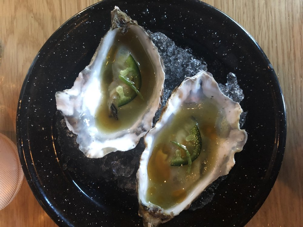 Oysters - A Mexican twist on oysters, which were marinated in habanero peppers and local favorite sea buckthorn. This was a refreshing first bite with a nice, spicy kick at the end.