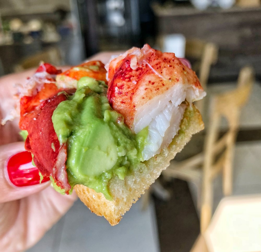 Lobster Avocado Toast - Millenials everywhere are crying tears of joy