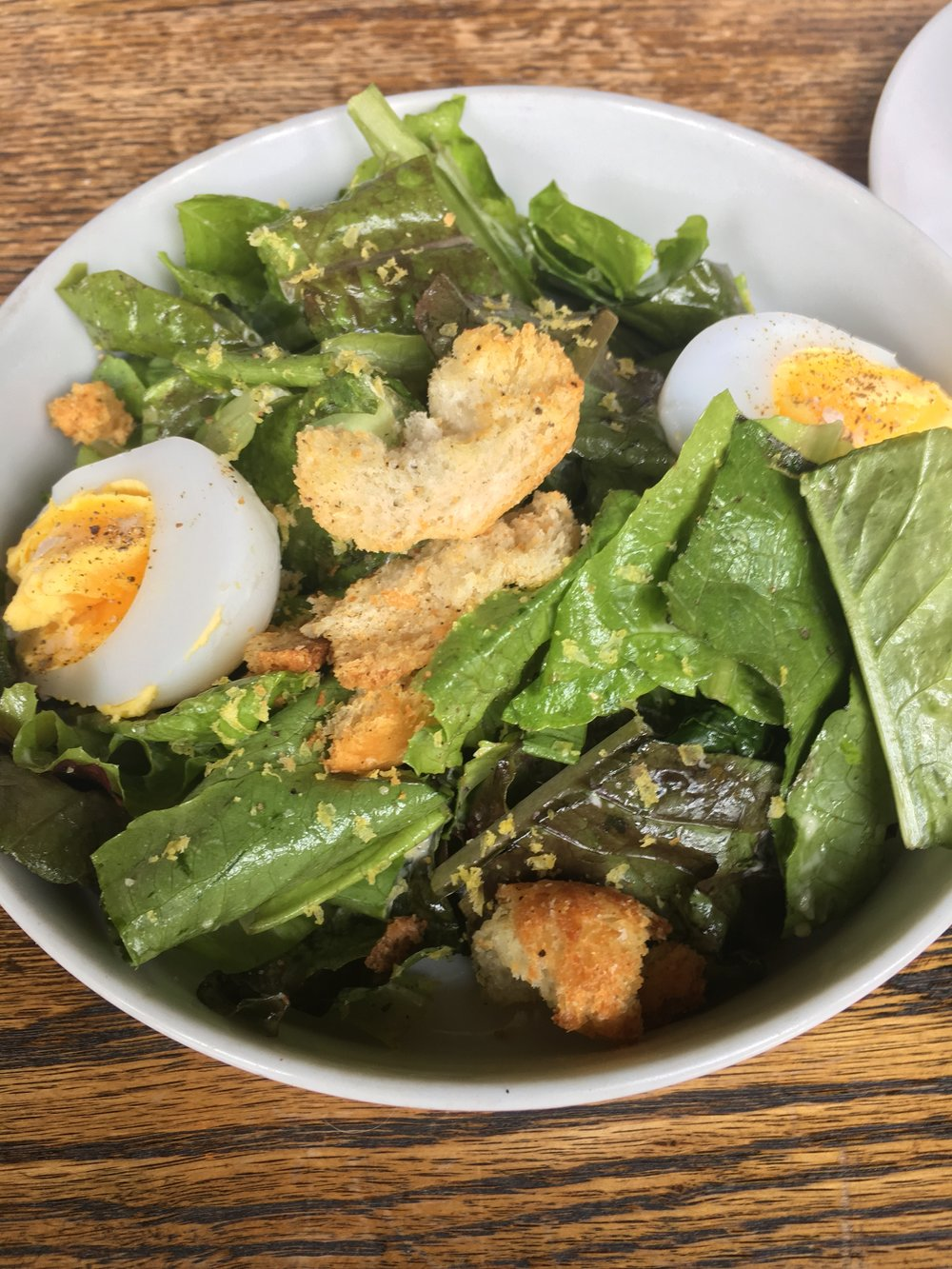 Caesar Salad - With duck eggAlso on the menu in May 2017, and I wish it had stuck around. A good one.