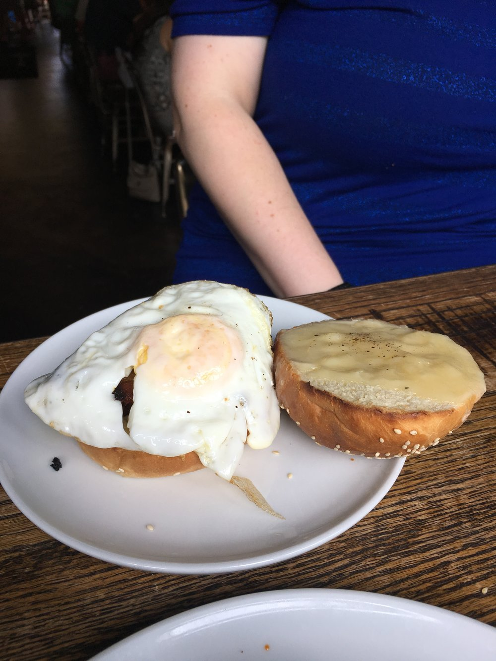 #BEC - Bacon, egg, and cheeseIt's good, but a hashtag in the name doesn't make it anything special. Your average bacon, egg, and cheese, that you could get cheaper and better at Laurel Market, or another breakfast spot.