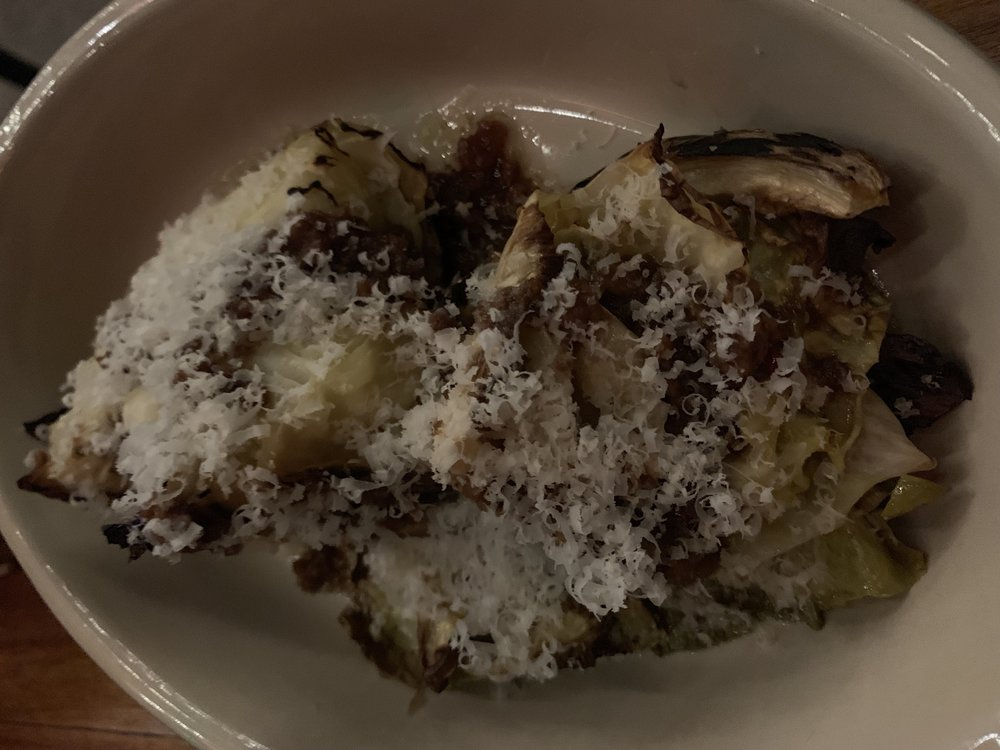 Smoked Cabbage - brown butter, macadamiaI gravitate towards anything smoked, and this cabbage was like eating tender brisket on the plains of Texas. It doesn't stick out on the menu, but it's a must try. Shout out to our great waitress for suggesting it.
