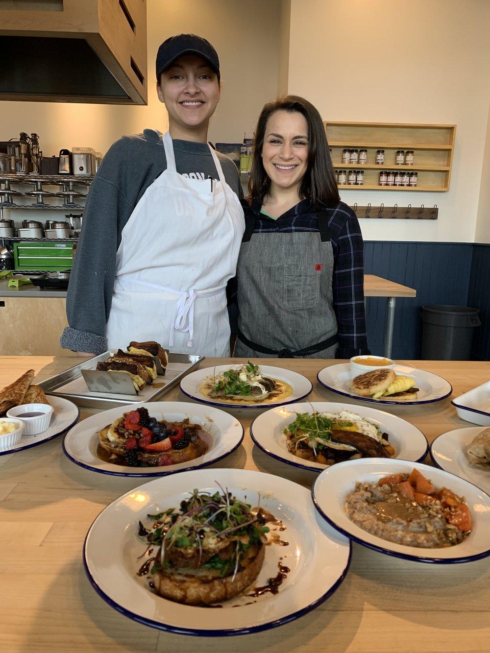 Chef Alyssa on the right!
