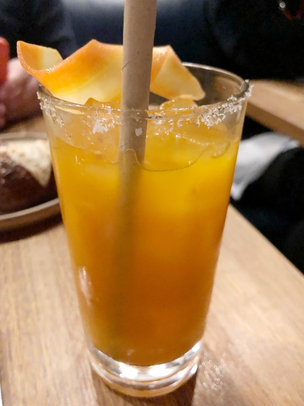 SEa Buckthorn & Tequila - We are sea buckthorn and tequila aficionados, and this drink didn't disappoint. Sea buckthorn is slightly sour, which kept this drink from being syrupy sweet. I would take another one right now, please and thank you.