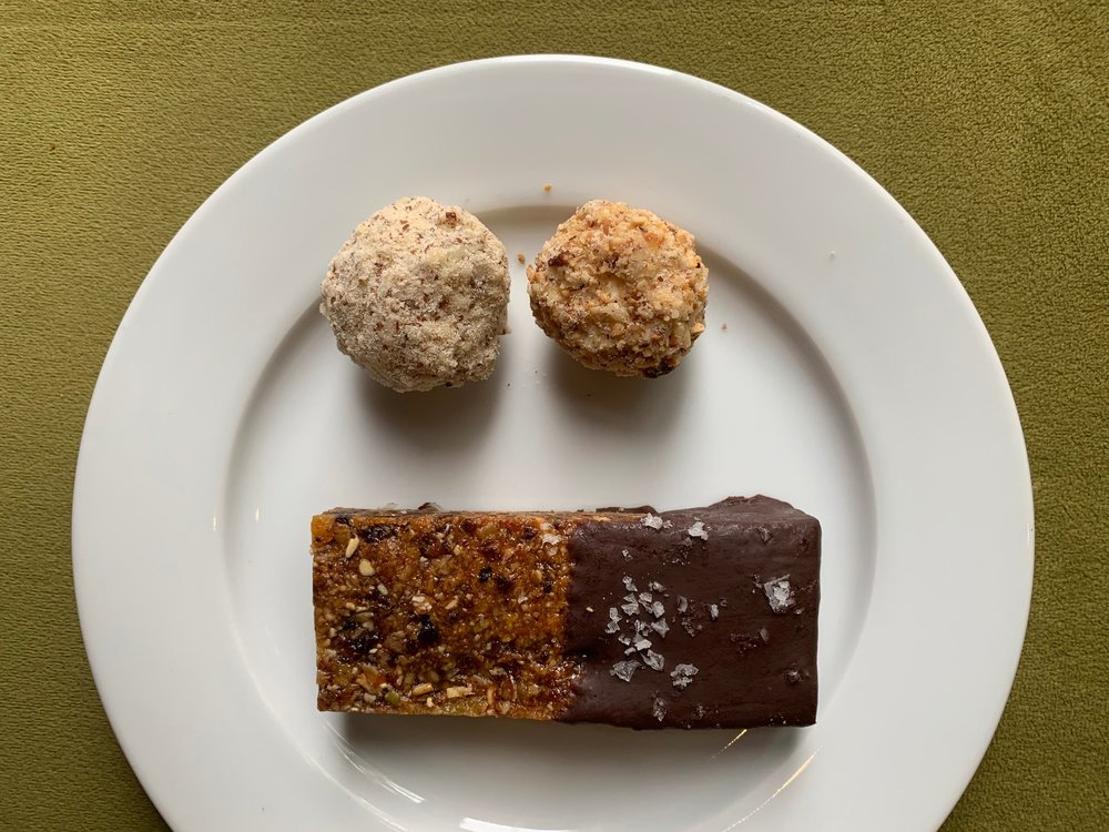Homemade Energy Bar and Blue Cheese and Parmesan Truffles