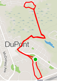 Map of 5K course