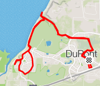 Map of half-marathon course
